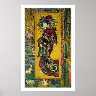 De Courtisane by Vincent van Gogh Poster