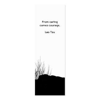 De cuidar viene el valor/la señal tarjetas de visita mini