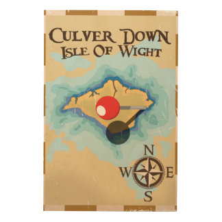 De Culver isla abajo del poster del viaje de Cuadros De Madera