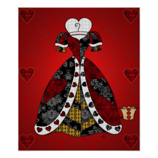 De de los corazones toda la impresión reina posters