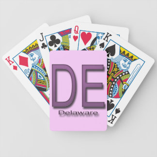 DE Delaware  magenta Bicycle Playing Cards