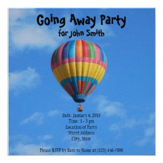 De despedida yendo lejos invitación del fiesta