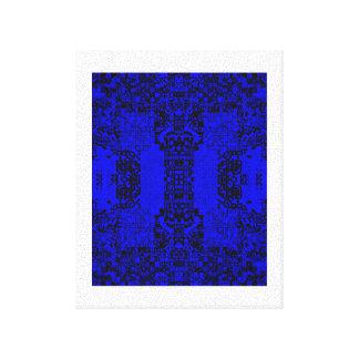 De diferentes tipos de caracteres azul fresco impresión de lienzo