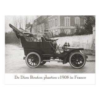 De Dion Bouton car photo reproduction Postcard