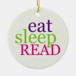 De doble cara coma, duerma, LEA - retro Adorno De Reyes