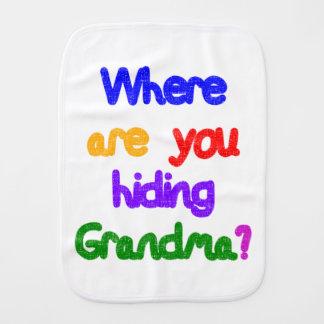 ¿De dónde usted está ocultando a la abuela? Paños De Bebé
