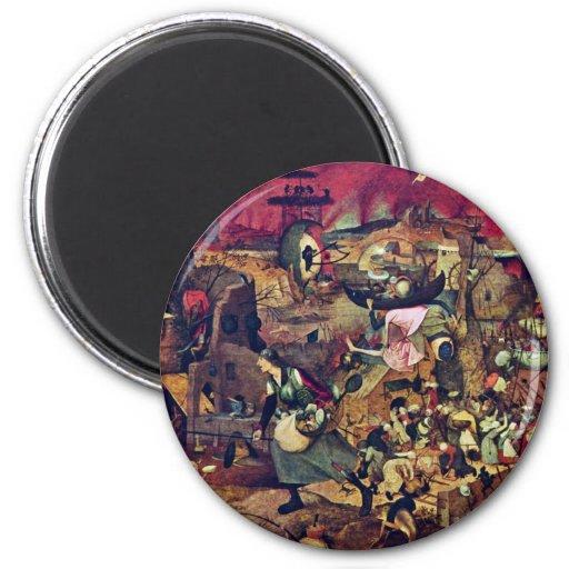 De Dulle Griet (el Grete fabuloso) por Bruegel D. Imán Redondo 5 Cm