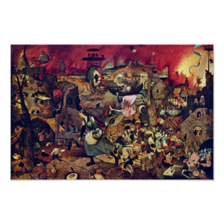 De Dulle Griet (The Terrific Grete) By Bruegel D. Poster