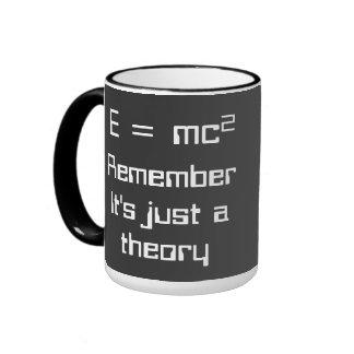 ² de E=mc. ¡La teoría de la relatividad de Einstei Tazas De Café