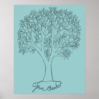 Dé el árbol de las gracias poster
