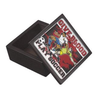 Dé el fútbol del juego de la sangre caja de joyas de calidad