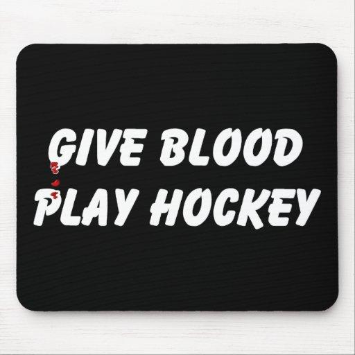 Dé el hockey del juego de la sangre alfombrillas de ratón