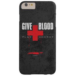 Dé el hockey del juego de la sangre funda de iPhone 6 plus barely there
