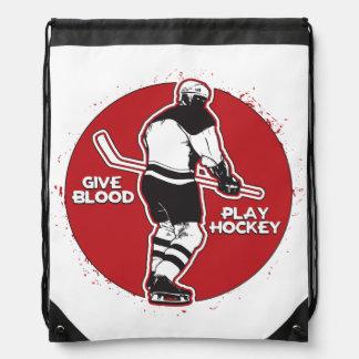Dé el hockey del juego de la sangre mochilas