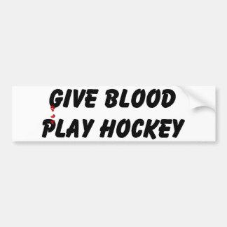 Dé el hockey del juego de la sangre pegatina para auto