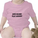Dé el hockey del juego de la sangre traje de bebé