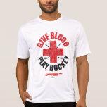 Dé el hockey v1 del juego de la sangre camiseta