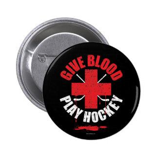 Dé el hockey v1 del juego de la sangre pins