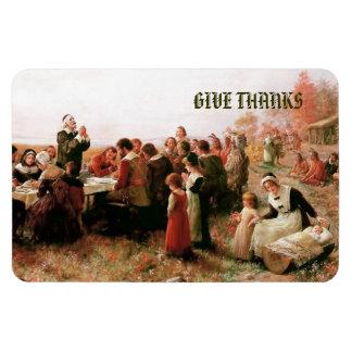 Dé el imán del regalo de Thanks.Thanksgiving