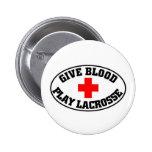Dé el juego LaCrosse de la sangre Pins