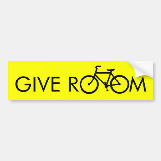 Dé el sitio a las bicis etiqueta de parachoque