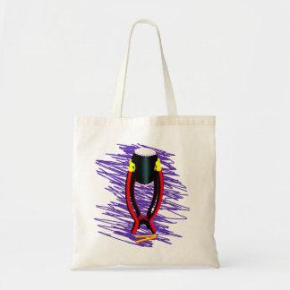 Dé el tambor en soporte con el fondo de la púrpura bolsas