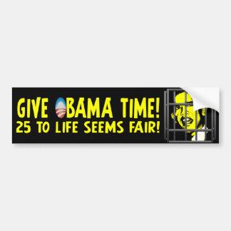 ¡Dé el tiempo de Obama! Pegatina Para Auto