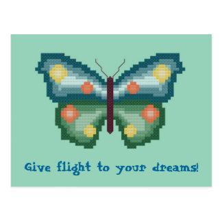 ¡Dé el vuelo a sus sueños! Postal de la mariposa