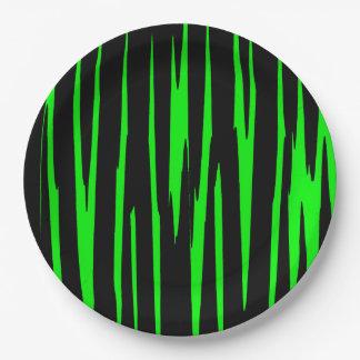 ~ de EMERALD ISLE (un diseño del arte abstracto) Plato De Papel De 9 Pulgadas