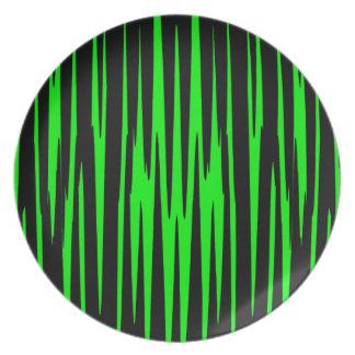~ de EMERALD ISLE (un diseño del arte abstracto) Platos