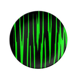 ~ de EMERALD ISLE (un diseño del arte abstracto) Platos De Cerámica