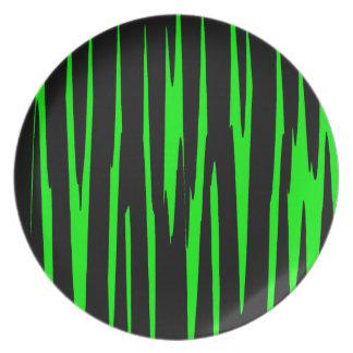 ~ de EMERALD ISLE (un diseño del arte abstracto) Platos De Comidas