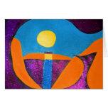 DÉ en arte abstracto de la palabra Felicitacion