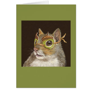 De encaje la tarjeta de la ardilla