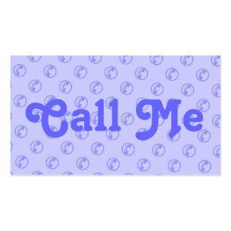 De encargo llámeme tarjeta de visita con el teléfo