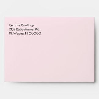 De encargo palidezca - el sobre rosado de la invit