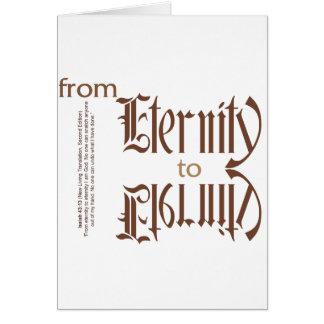 de eternidad a la eternidad tarjeta de felicitación