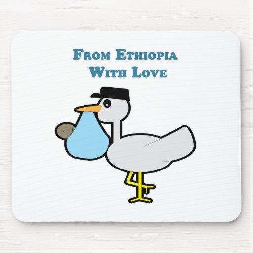 De Etiopía con amor Alfombrillas De Raton