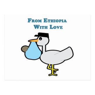 De Etiopía con amor Postal