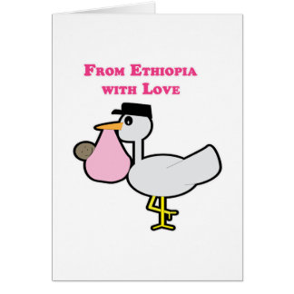De Etiopía con el amor (chica) Tarjeta De Felicitación