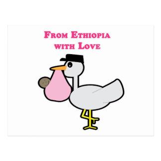 De Etiopía con el amor (chica) Tarjeta Postal