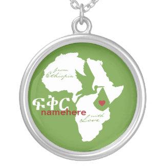 De Etiopía con la adopción del amor Colgante Redondo