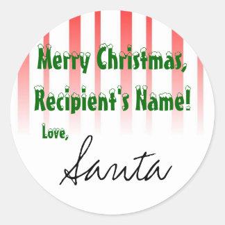 "De etiqueta del regalo de ""Santa"""