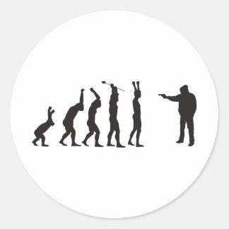 de-evolution classic round sticker