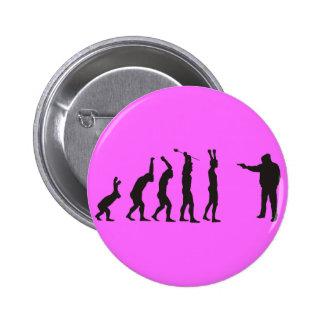 de-evolution pinback button