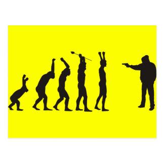 de-evolution postcard