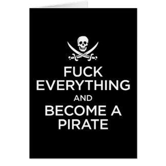 *** de f todo y hecho un pirata tarjetón