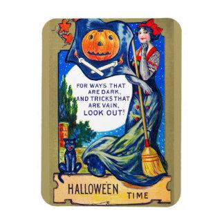 De Falln de la mirada tiempo de Halloween hacia Iman De Vinilo