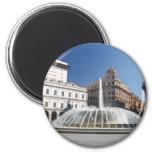 De Ferrari Square, Genoa, Italy 2 Inch Round Magnet