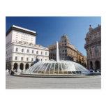 De Ferrari Square, Génova, Italia Tarjeta Postal